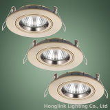La torcedura Lock Ring Muere-Cast Aluminum Recessed Ceiling Downlight Fixture con GU10/MR16 Lamp Holder