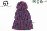 2016 moda de invierno de la gorrita tejida de punto caliente con nuevo diseño