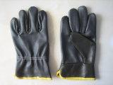 Перчатка водителя кожи мебели темного цвета