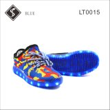 Blaues Kids und Women LED Sneaker Shoes mit Light Outsole