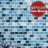 tegel van het Mozaïek van het Glas van de Smelting van het Patroon van de Metro van 20X30mm de Blauwe Hete (BGZ012)