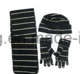 Knitting Winter Warm Printed 형식 숙녀 극지 양털 세트