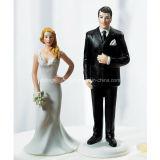 Decoración de la torta de la estatuilla de los primeros de la torta de boda de la resina de la decoración de la boda