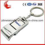 Abridor de frasco de alumínio Keychain da liga barata feita sob encomenda do zinco