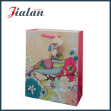 Подгоняйте с мешком несущей покупкы упаковки подарка птиц яркия блеска бумажным