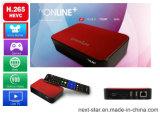 Het Hoogste Vakje van de Televisie van TV Online+ met het Veranderlijke Document van de Muur en Vrije Inhoud