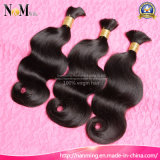Cheap Sew in Hair Brazilian Body Wave / Straight Human Bulk Hair Weave