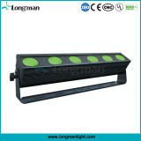 Outdoor 6X25W Rgbaw DMX LED Wall Washer Light Bar para o Estágio