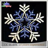 Illuminazione blu della decorazione di motivo della via del fiocco di neve di natale LED