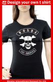 여자의 주문 면 도매 인쇄 형식 둥근 목 소녀 t-셔츠