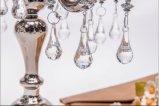 Supporto di candela di vetro del manifesto di colore cinque del metallo di lustro per la decorazione di cerimonia nuziale