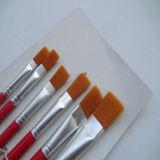 새로운 6개의 PCS 빨강 강모 페인트 붓 유성 페인트 예술가 솔