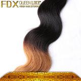 人間の毛髪の織り方のベンダーボディ波のOmbreによって着色される毛の拡張