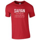 2016 en gros sécher le T-shirt en bonne santé de nom de Saiyan avec A268 respirable