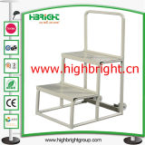China Factory Steel Warehouse Rolling Step Ladder