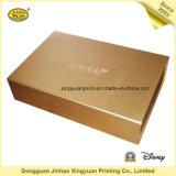 Steifer Papierkasten-Geschenk-Kasten mit Goldfarbe (JHXY-PB0004)