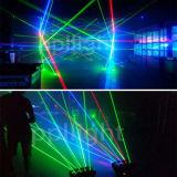 8PCS het bewegen van het HoofdLicht van de Laser van de Spin (RGB of Enige GROEN)
