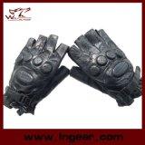 Fliegenklatsche-Armee-halbe Finger Airsoft Paintball lederne Handschuhe