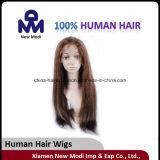 Peluca popular del pelo humano con el pelo de la Virgen