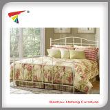 Кровать самого лучшего металла размера ферзя мебели комнаты надувательства 2015 домашнего живущий двойная (HF066)
