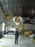 Aerostati ambulanti esterni/dell'interno dell'aerostato di pubblicità gonfiabile del PVC dell'elio dello zaino