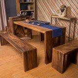 유연한 찻집 호두 벤치 (CG-018)를 가진 목제 탁자