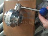 Санитарная клапан-бабочка 3-Частей нержавеющей стали (ACE-DF-2F)