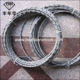 Le fil de diamant a vu pour le découpage de carrière de marbre de granit profilant ajuster