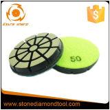 Tampone a cuscinetti per lucidare di ceramica del pavimento da 3 pollici dello strumento concreto del diamante