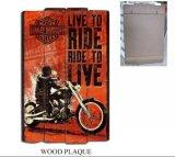 Pinturas de mesa de suspensão de madeira populares com design de motocicleta