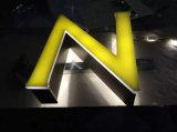 Lettres acryliques personnalisées de la Manche de l'acier inoxydable DEL