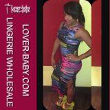 Платье клуба Bodycon африканского карандаша печати сексуальное (L36093)