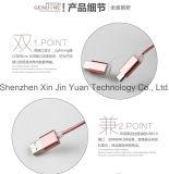 2 in 1 che incarica e nylon del cavo del USB di sincronizzazione isolato del metallo