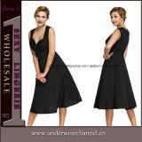Vestito Sleeveless convenzionale dall'annata delle donne reali della fucilazione (TDN1505)