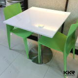 Glacier White Modern Acrylic Marble Top Dining Table
