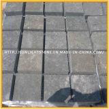 Pedra de pavimentação do granito G684 preto, Paver, Cobblestone para a paisagem do jardim