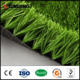 Preiswertes im Freien grünes GROSSHANDELSPET materielles synthetisches Gras für Fußballplätze
