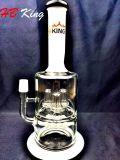 Condutture in-linea di vetro di acqua di Perc dell'acquazzone doppio crema del tubo Hb-K4