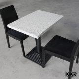 Quadratischer fester Oberflächenmarmorsteingaststätte-Bankett-Tisch (T1609280)