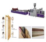 Puerta de madera del polvo del PVC y marco de puerta que hace la máquina