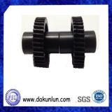Engranaje negro de Plastic/POM