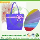 Fiable no tejida de polipropileno material hilado para bolsas