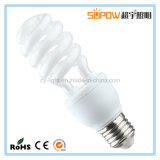 Media luz compacta del ahorro de la energía de la lámpara fluorescente del T3 7W~18W del espiral