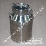 Barilotto sanitario del latte dell'acciaio inossidabile da 40 litri, bidone di latte d'acciaio