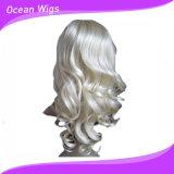 Peruca sintética feminina e peruca de cabelo humano