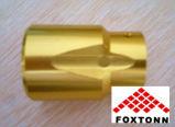 Подвергать механической обработке CNC золотистой анодизации OEM алюминиевый