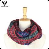 Fashionable Custom Jacquard Pattern der Dame Mehrfarbenschleifen-Schal