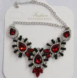 fashion Jewelry Metal Alloy 숙녀 유리제 수정같은 펀던트 목걸이 (JE0212)