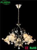 Éclairage en cristal de lustre de forme de fleur de lampe pendante de la plus défunte décoration à la maison