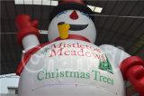 Anunciando o homem inflável da neve do Natal do brinquedo inflável